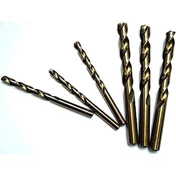 PROFESSIONAL 4.5mm HSS-CO COBALT TWIST BIT CR-NI//Hard//Metal//Steel German Quality