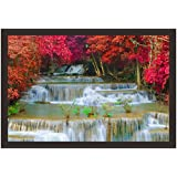Mad Masters Waterfall In Deep Rain Forest Jungle. 1 Piece Wooden Framed Painting |Wall Art | Home Décor | Painting Art | Unique Design | Attractive Frames