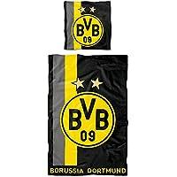 Borussia Dortmund BVB Bettwäsche mit Streifenmuster 135x200 cm