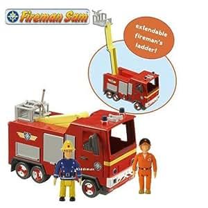Sam Le Pompier Fireman Sam Incendie moteur de Jupiter avec les figures Sam et Tom