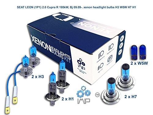 IMIP - SEAT LEON (1P1) 2.0 Cupra R | Kit d'ampoules de phares au Xenon Super Blanc H3 W5W H7 H1