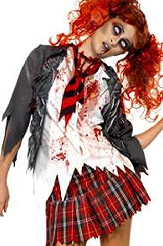 Fortuning's JDS Schulmädchen Rock Uniform Halloween Kostüm Nachtclub Party Masquerade (Graue Geist Kostüm)