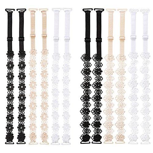 Metyou Damen BH-Träger Black beige white One size