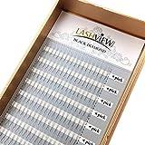 LASHVIEW natürliche lange schnelle Gruppe Lashes Pro Gewährung von 0,05 mm C Locke 3D Volumen Wimpernverlängerung mix C Locke Lash Extension Wimpern einzelne Wimpern
