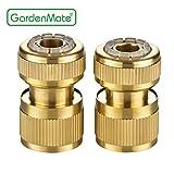 GardenMate® 13mm (1/2') MESSING Schlauchverbinder Schlauchstück und Wasserstop Set