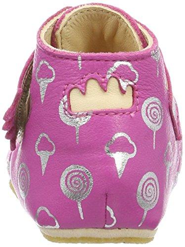 Easy Peasy Kiny Sweety, Chaussons pour enfant bébé fille Pink (fushia/argent)
