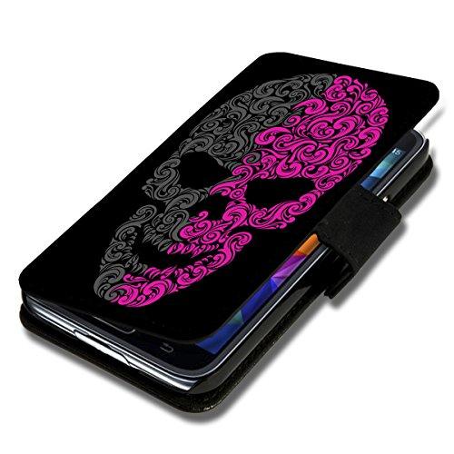 Book Style Flip Handy Tasche Case Schutz Hülle Schale Motiv Etui für Wiko Darkmoon - Flip 1A51 Design4