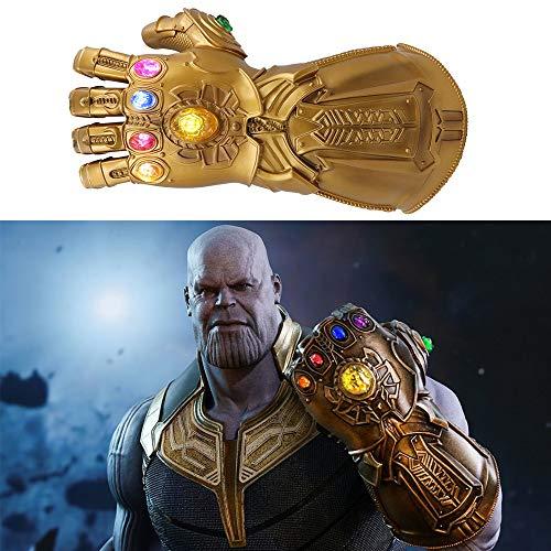 Womdee Thanos Guantelete, Avengers Infinity Guantelete con Luz electrica Avengers Conmemoración - Adecuado para Marvel fanáticos, Apto para Adultos 35 * 15cm