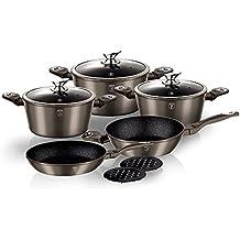 Berlinger Haus Batería de cocina 10 Piezas Carbon Metallic Line