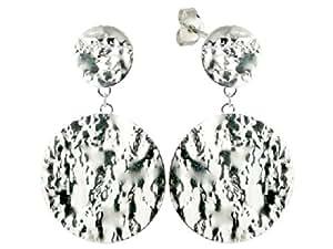 Silver In Paris - Grosses boucles d'oreilles rondes en argent