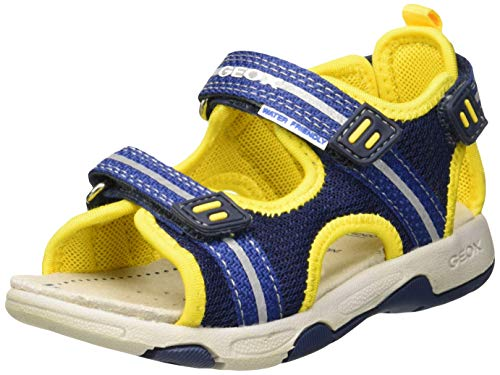 Geox Baby Jungen B Multy Boy a Sandalen, Blau (Navy/Yellow C0657), 23 EU