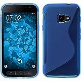 PhoneNatic Case kompatibel mit Samsung Galaxy Xcover 4 / 4s - blau Silikon Hülle S-Style + 2 Schutzfolien