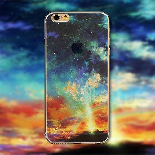 Coque iPhone 6 Plus 6s Plus Housse étui-Case Transparent Liquid Crystal en TPU Silicone Clair,Protection Ultra Mince Premium,Coque Prime pour iPhone 6 Plus 6s Plus-Paysage-style 16 17