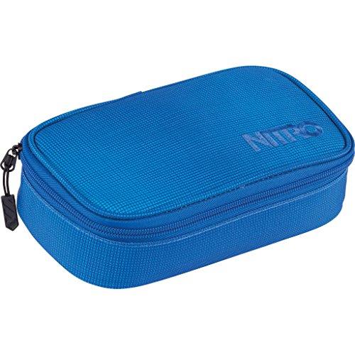 Nitro Pencil Case XL inkl. GEO DREIECK UND STUNDENPLAN, Federmäppchen, Schlampermäppchen, Faulenzer Box, School Case, Federmappe, Schuletui, Stifte Etui,  Blur Brilliant Blue, 21 x 10 x 6,5 cm, 130 g,  1.36 Liter, 1161-878043_1952