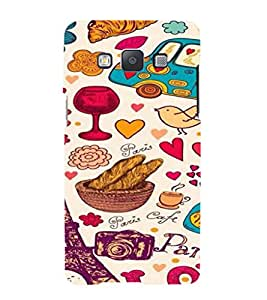 iFasho Modern Art Design Pattern car food tower bird Back Case Cover for Samsung Galaxy A5