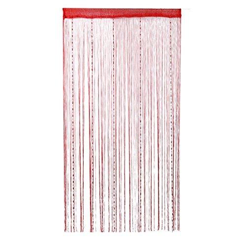 Preisvergleich Produktbild DealMux Tau-Tropfen-Perlen-Kette-Schnur-Vorhang-Panel Trennwand 100x200cm Wandtürvorhang (rot)
