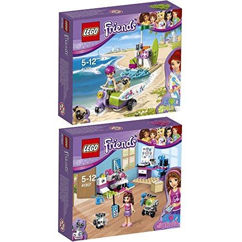 Lego Friends 2er Set 41306 41307 Mias Strandroller + Olivias Erfinderlabor
