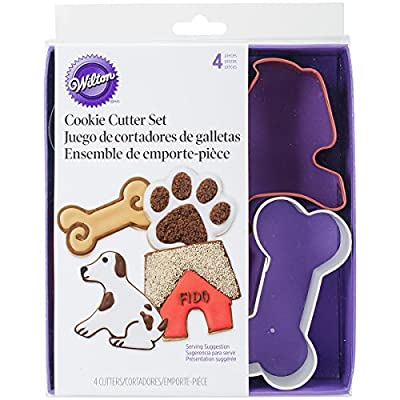 Four-Piece Pet Cookie Cutter Coloured Theme Set from Wilton Brands Inc