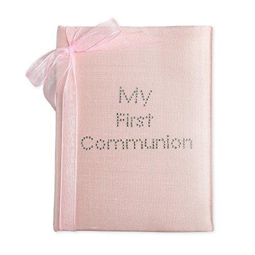 My First Communion Rosa Seide 4x 6Foto Album mit Schleife (Kirche Krawatten Für Jungen)