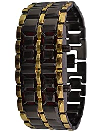 KMS Unisex Digital Watch - GOLDBlack_Metal_Watch