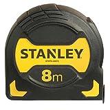 Stanley Bandmaß Grip, 8m Länge, schockabsorbierende Gummierung, Gürtelclip, Feststeller, Nylon-Überzug, STHT0-33566