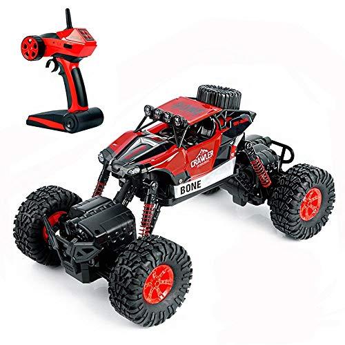 PETRLOY 4WD Monster Truck Red RC Auto Rock Crawler 2,4 GHz Sender Hochgeschwindigkeits-Offroad-Fernbedienung Brushless Electric Mit Taschenlampe Stoßfest Jungen Überraschungsgeschenk Fahrzeug 1/14 Rac (Taschenlampe Minnie)