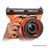 USUN Kamera Tauchtasche, Reise Wasserdicht Unterwasser Tauchen DSLR SLR Objektiv Kamera Tasche Trockenbeutel (Orange)