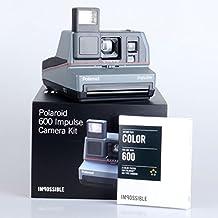Polaroid 600 Impulse Kamera + 2x Impossible 600er Color Film