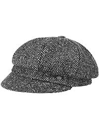 Lierys Alessia Herringbone Ballonmütze Schirmmütze Baker-Boy-Mütze Damencap Wintercap Wollcap für Damen mit Schirm, Futter Winter