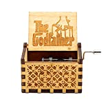 The Godfather in legno Scatola musicale - 18 Note Meccanismo Antique Laser Engrave Musical Boxs Artigianato Melody Castle in mano