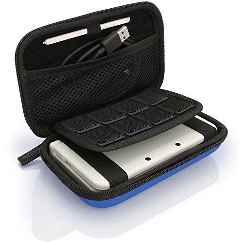 3ds Tasche Blau Xl (igadgitz Blau EVA Hart Tasche Schutzhülle fur Neu Nintendo 3DS XL (Alle Versionen) & 2DS XL 2017 Etui Case Cover mit Tragegurt)
