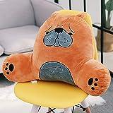 YQ WHJB Lesekissen Mit Armen,Office Lumbale pad,Waschbar Bett Office Stuhl Rest Tatami Support für positionierung Rückenlehne Kissen-D 50x38x20cm(20x15x8inch)