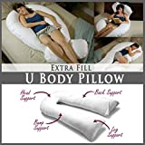 Extra Füllen 9ft Komfort U Kissen Körper Zurück Unterstützung Still Schwangerschaft Kissen mit frei abnehmbarer Bezug–hergestellt in Großbritannien