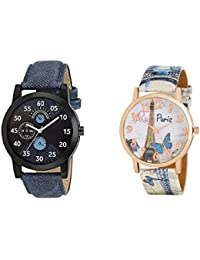 krupa Enteprise Analogue Multicolor Dial Wrist Watch for couple watches