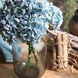 Longra 1 Bouquet 5 Köpfe Künstliche Seide gefälschte Blumen Pfingstrose Blumen Blumenstrauß Blumen-Bouquet Bridal Bouquet Blume Hochzeit Home Party Dekoration (Blue)