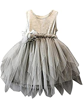 Amlaiworld Vestito per bambini,Bambino fiore principessa partito nozze Tulle Tutu vestito