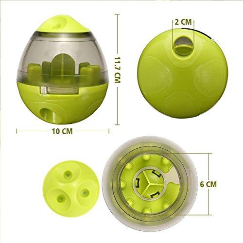ALAMP Hundespielzeug Ball Interaktives Hundespielball Leckerli-Spender Snackball gegen Langeweile für Hunde und Welpen - 2