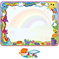 Aquadoodle Super Rainbow Deluxe  Large MessFree Water Drawing Mat Fun for children ages 18 Months+