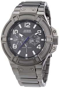 Guess Herren-Armbanduhr XL Rigor Multifunktion Analog Quarz Edelstahl beschichtet W0041G1