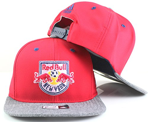 adidas New York Red Bulls MLS Youth Flat Brim Snapback Cap rot/grau