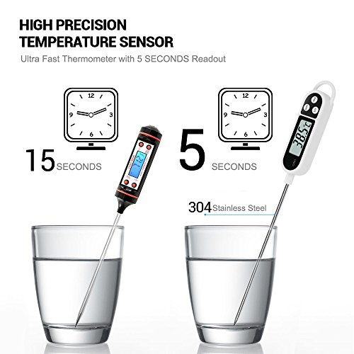 Cooking Thermometer, LEMEGO Digital Meat Food Thermometer Instant Read Long Probe Auto Off LCD Screen Kitchen…