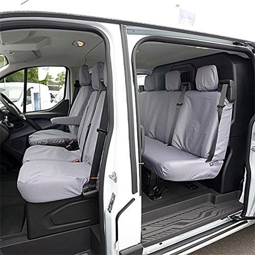 Su misura per Ford Transit Custom-Coprisedili anteriori e posteriori (2013), colore: (Grigio Su Misura Seat Covers)