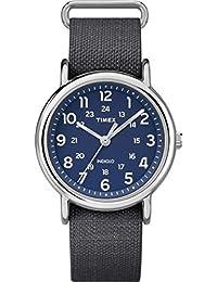 Timex TW2P65700 Orologio da Polso al Quarzo, Analogico, Uomo, Tessuto, Blu/Blu