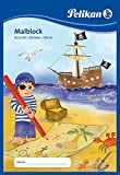 Pelikan Malblock / Zeichenblock / 100 Blatt / DIN A4 / mit Piratenmotiv