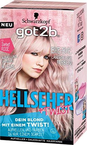 Schwarzkopf Got2b Hellseher Haarfarbe, 101 Sorbet Rosé, 3er Pack (3 x 143 ml) -