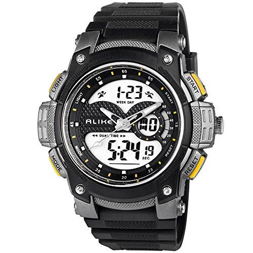 colofan AK1396Hohe Qualität Fashion Sport Spiel Hike Climb Dive Multi Funktion wasserdicht Luxus fashoinable QAURTZ Alarm Timer schwarz Gummi strapwristwatches
