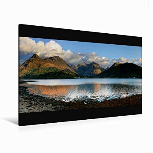 Calvendo Premium Textil-Leinwand 120 cm x 80 cm quer Panorama, Glen Coe Village, Schottland | Wandbild, Bild auf Keilrahmen, Fertigbild auf echter Leinwand. Glencoe Village, Schottland Natur Natur