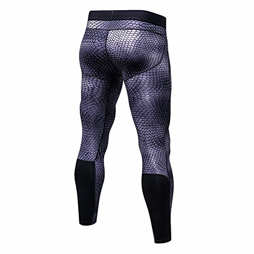 Bmeigo Herren Workout Leggings 3D Running Exercise Tight Bodybuilding Sport Hose Black