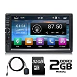 Panlelo S1 Plus Android 2 DIN Car Stereo 64 GB Memory Universal 7 pollici Touch Screen Navigazione GPS AM FM Radio Quad Core 2 GB RAM 32 GB ROM Scheda SD 32 GB Car Audio Player Wi-Fi BT