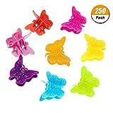 FANTESI 250 Pièces Mini Pince à Cheveux Papillon Assorti Pince à Cheveux Coloré Accessoire Griffe Cheveux Barrettes en Forme de Papillion 8 Couleurrs pour Femmes et Filles